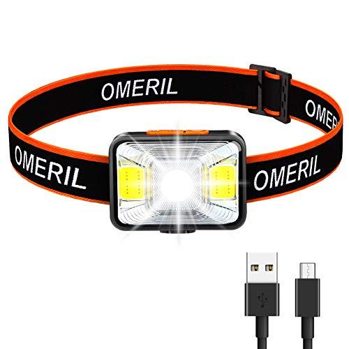 OMERIL Stirnlampe LED Wiederaufladbar...*
