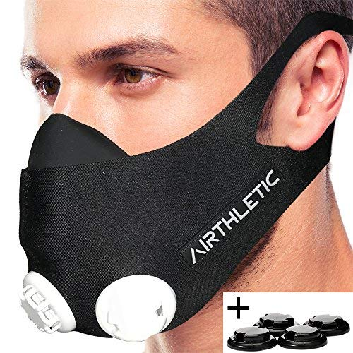 AIRTHLETIC Atemmaske Training Mask mit...