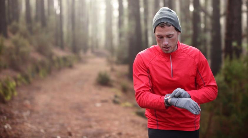 Läufer mit Laufuhr